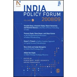 India Policy Forum 2008-09 - Paperback , English