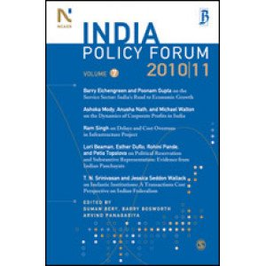 India Policy Forum 2010-11 - Paperback , English