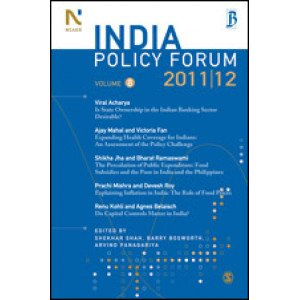 India Policy Forum 2011-12 - Paperback , English
