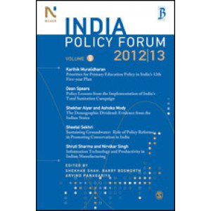 India Policy Forum 2012-13 - Paperback , English