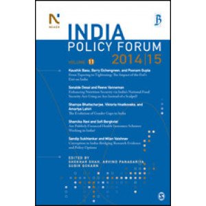 India Policy Forum 2014-15 - Paperback , English