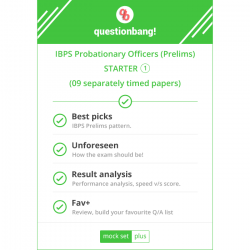 IBPS Probationary Officers & Management Trainees (Prelims) STARTER Pack 1