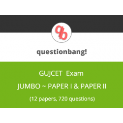 GUJCET 2020- Jumbo pack, 12 Model question papers (Paper I & Paper II, 6 each)