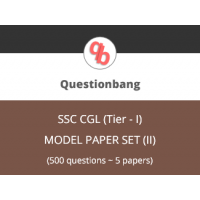 SSC CGL (Tier - I), Model paper set (II)
