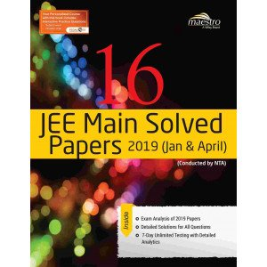Wiley\'s 16 JEE Main Solved Papers 2019 (Jan & April)