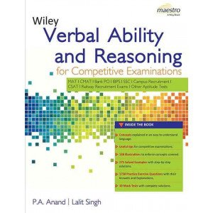 Wiley\'s Verbal Ability and Reasoning for Competitive Examinations