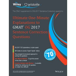 Wiley\'s Ultimate One-Minute Explanations to GMAT OG 2017 Sentence Correction Questions