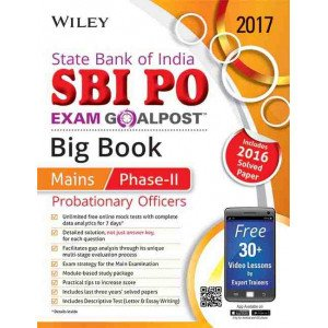 Wiley\'s State Bank of India Probationary Officers (SBI PO) Exam Goalpost Big Book, Mains Phase-II, 2017