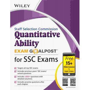Wiley\'s Quantitative Ability Exam Goalpost for Staff Selection Commission (SSC) Exams