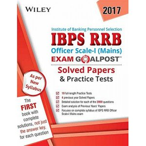 Wiley\'s IBPS RRB Officer Scale-1 (Mains) Exam Goalpost, Solved Papers & Practice Tests