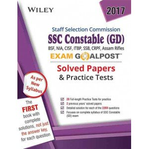 Wiley\'s SSC Constable (GD) Exam Goalpost Solved Papers & Practice Tests