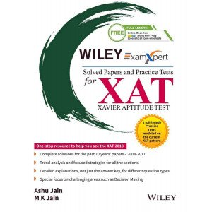 Wiley\'s ExamXpert Solved Papers and Practice Tests for XAT (Xavier Aptitude Test)