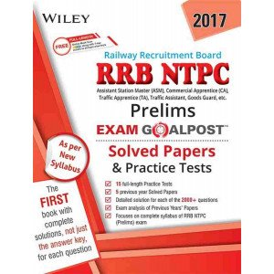 Wiley\'s RRB NTPC (Prelims) Exam Goalpost Solved Papers and Practice Tests