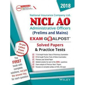 Wiley\'s NICL AO (Prelims+Mains) Exam Goalpost Solved Papers and Practice Tests