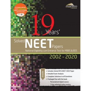 Wiley\'s 19 Years\' Solved NEET Papers 2002 - 2020