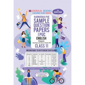 Oswaal Karnataka PUE Sample Question Papers I PUC Class 11 English Book (March 2020 Exam)