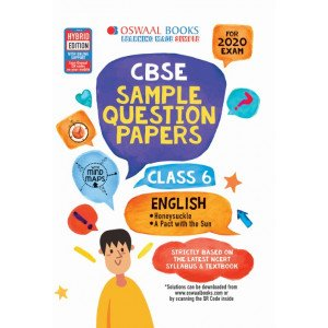 Oswaal CBSE Sample Question Papers Class 6 English Book (For March 2020 Exam)