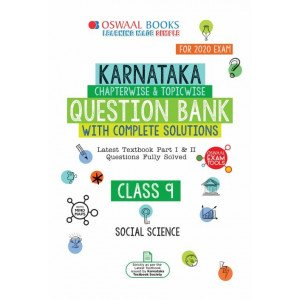 Oswaal Karnataka SSLC Question Bank Class 9 Social Science Book Chapterwise & Topicwise (For March 2020 Exam)