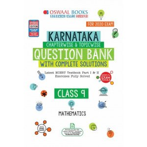 Oswaal Karnataka SSLC Question Bank Class 9 Mathematics Book Chapterwise & Topicwise (For March 2020 Exam)