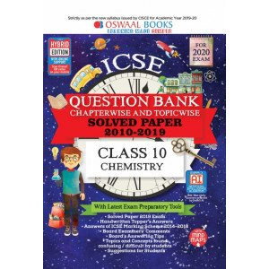 Oswaal ICSE Question Bank Class 10 Chemistry Book Chapterwise & Topicwise (For March 2020 Exam)