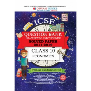 Oswaal ICSE Question Bank Class 10 Economics Book Chapterwise & Topicwise (For March 2020 Exam)