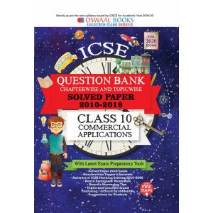 Oswaal ICSE Question Bank Class 10 Commercial Applications Book Chapterwise & Topicwise (For March 2020 Exam)