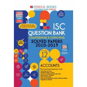 Oswaal ISC Question Bank Class 12 Accounts Book Chapterwise & Topicwise (For March 2020 Exam)