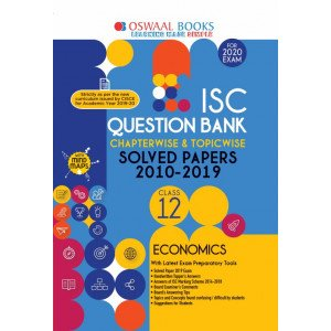 Oswaal ISC Question Bank Class 12 Economics Book Chapterwise & Topicwise (For March 2020 Exam)