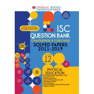 Oswaal ISC Question Bank Class 12 Physical Education Book Chapterwise & Topicwise (For March 2020 Exam)