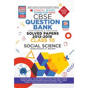 Oswaal CBSE Question Bank Class 10 Social Science Book Chapterwise & Topicwise Includes Objective Types & MCQ's (For March 2020 Exam)