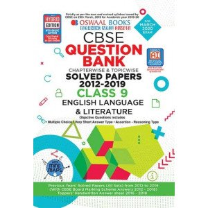 Oswaal CBSE Question Bank Class 9 English Language and Literature Book Chapterwise & Topicwise Includes Objective Types & MCQ\'s (For March 2020 Exam)