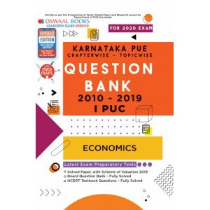 Oswaal Karnataka PUE Solved Papers I PUC Economics Book Chapterwise & Topicwise (For March 2020 Exam)