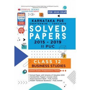 Oswaal Karnataka PUE Solved Papers II PUC Business Studies Book Chapterwise & Topicwise (For March 2020 Exam)
