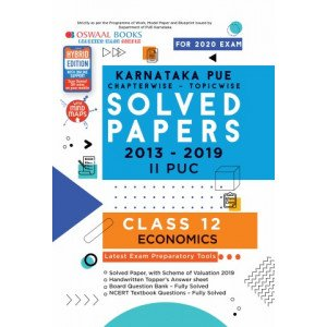Oswaal Karnataka PUE Solved Papers II PUC Economics Book Chapterwise & Topicwise (For March 2020 Exam)