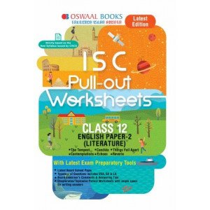 Oswaal ISC Pullout Worksheet Class 11 + 12 English Paper- 2 Literature Book (For March 2020 Exam)