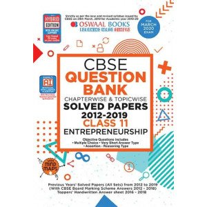 Oswaal CBSE Question Bank Class 11 Entrepreneurship Book Chapterwise & Topicwise (For March 2020 Exam)