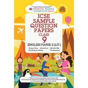 Oswaal ICSE Sample Question Papers Class 9 English Paper 2 Literature Book (For March 2020 Exam)