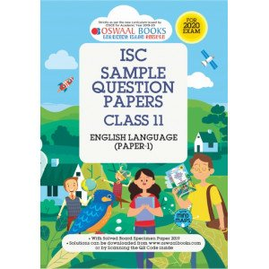 Oswaal ISC Sample Question Paper Class 11 English Paper 1 Language Book (For 2020 Exam)