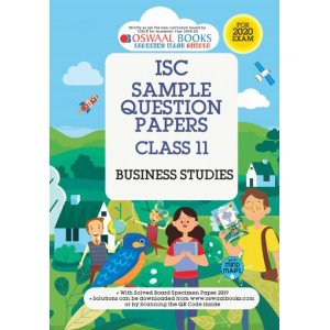 Oswaal ISC Sample Question Paper Class 11 Business Studies Book (For 2020 Exam)