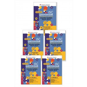 Oswaal ISC Question Bank Class 12 (Set of 5 Books) English Papers 1& 2(Language and Literature), Accounts, Economics, Commerce (For March 2020 Exam)