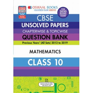 Oswaal CBSE Unsolved Papers Chapterwise & Topicwise Class 10 Mathematics Book (For March 2020 Exam)