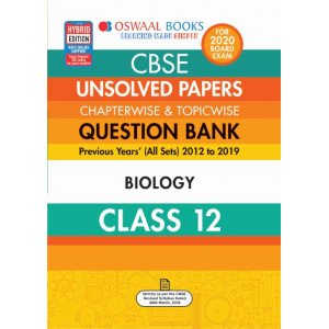 Oswaal CBSE Unsolved Papers Chapterwise & Topicwise Class 12 Biology Book (For March 2020 Exam)