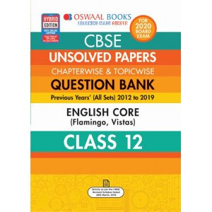 Oswaal CBSE Unsolved Papers Chapterwise & Topicwise Class 12 English Core Book (For March 2020 Exam)