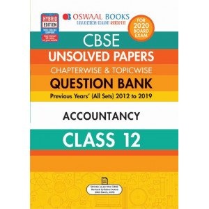 Oswaal CBSE Unsolved Papers Chapterwise & Topicwise Class 12 Accountancy Book (For March 2020 Exam)