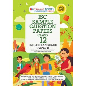 Oswaal ISC Sample Question Papers Class 12 English Papers 1 Language Book (For 2020 Exam)