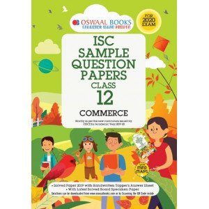 Oswaal ISC Sample Question Papers Class 12 Commerce Book (For 2020 Exam)