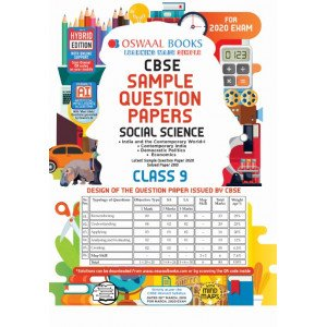 Oswaal CBSE Sample Question Paper Class 9 Social Science Book (For March 2020 Exam)