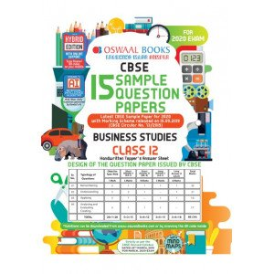 Oswaal CBSE Sample Question Papers Class 12 Business Studies Book (For March 2020 Exam)