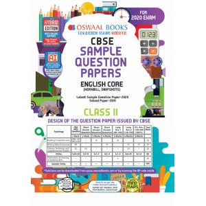 Oswaal CBSE Sample Question Paper Class 11 English Core Book (For March 2020 Exam)