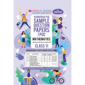 Oswaal Karnataka PUE Sample Question Papers I PUC Class 11 Mathematics Book (March 2020)